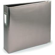 We R Memory Keepers™ 8 1/2 x 11 Faux Leather 3-Ring Binder, Platinum