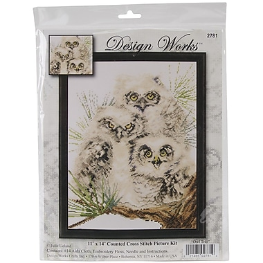 Tobin Bucilla® Owl Trio Counted Cross Stitch Kit, 11