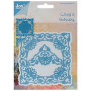 "Ecstasy Crafts Joy! Crafts 4"" x 4"" Cut & Emboss Die, Ornate Square Frame & Delicate Corners"