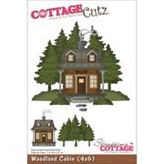 """CottageCutz® 4"""" x 6"""" Universal Thin Die, Woodland Cabin"""