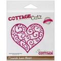 CottageCutz® Elites 3.1in. x 3.5in. Universal Thin Die, Flourish Love Heart