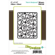 "Die-Versions® 4"" x 5 1/4"" Whispers Background Die, Heart"