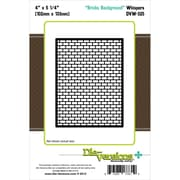 "Die-Versions® 4"" x 5 1/4"" Whispers Background Die, Bricks"