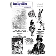 "IndigoBlu 9"" x 6 1/2"" Cling Mounted Stamp Set, Alice I"