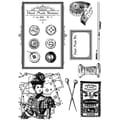 IndigoBlu 8in. x 5 1/2in. Cling Mounted Stamp Set, In Stitches