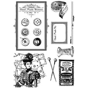 "IndigoBlu 8"" x 5 1/2"" Cling Mounted Stamp Set, In Stitches"