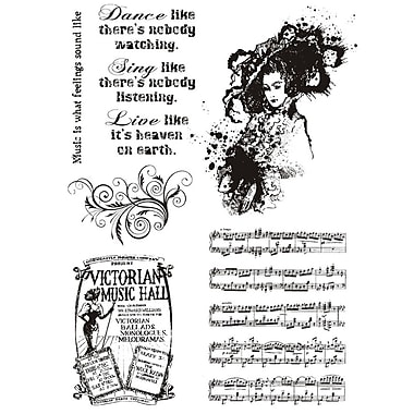 IndigoBlu 8in. x 5 1/2in. Cling Mounted Stamp Set, Music Hall