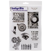 "IndigoBlu 10"" x 6 1/2"" Cling Mounted Stamp Set, Take the Time"