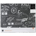 American Crafts™ 12in. x 12in. Boys Rule Cloth D-Ring Album, Chalkboard Graffiti