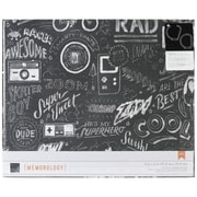 American Crafts™ 12 x 12 Boys Rule Cloth D-Ring Album, Chalkboard Graffiti