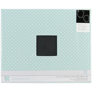 Pebbles 12 x 12 Special Delivery Boy Patterned Cloth D-Ring Album, Blue With White Dots