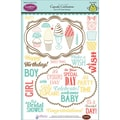 Justrite® Papercraft 6in. x 8in. Clear Stamps Set, Cupcake Celebrations