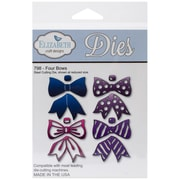 Elizabeth Craft Designs Die Set, Four Bows