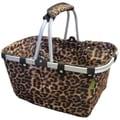 Janetbasket™ Vivid Allon 18in. x 10in. x 9 1/2in. Large Aluminum Frame Basket, Leopard