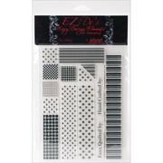 "Kellycraft™ EZ-De's 6"" x 8"" Clear Stamps Sheet, 1"" Rail Fence Set A"