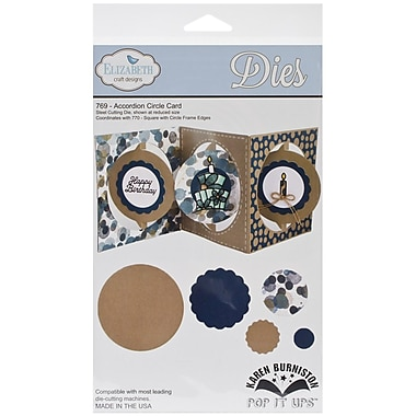 Elizabeth Craft Designs Pop It Up™ 12 cm x 12 cm Die Set, Accordian Circle Card
