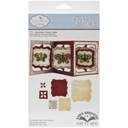 Elizabeth Craft Designs Pop It Up™ 12 cm x 12 cm Die Set, Accordion Fancy Label
