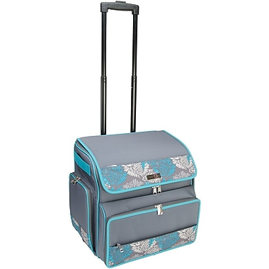 Everything Mary® Rolling Scrapbook Tote, Blue/Gray