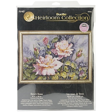 Bucilla® Heirloom Collection Dana's Roses Counted Cross Stitch Kit, 20