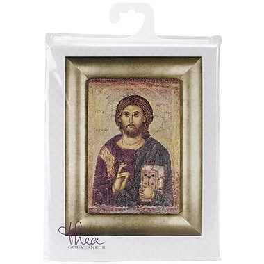Thea Gouverneur Icon Christ Pantokrator On Aida Counted Cross Stitch Kit, 8 3/4