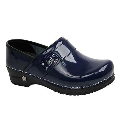 Sanita Footwear Leather Women's Professional Lindsey Clog Blue, 8.5 - 9
