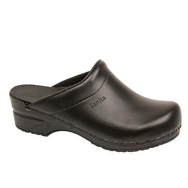 Sanita Footwear Leather Women's Sonja Clog Black, 4.5 - 5