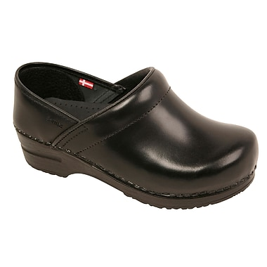 Sanita Footwear Leather Men's Professional Cabrio Clog Black, 14 - 14.5