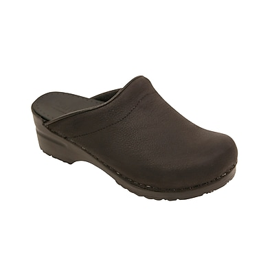 Sanita Footwear Leather Women's Sonja Oil Clog Black, 4.5 - 5