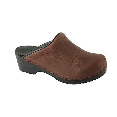 Sanita Footwear Leather Women's Sonja Oil Clog Brown, 10.5 - 11