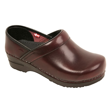 Sanita Footwear Leather Women's Professional Celina Clog, 7.5 - 8