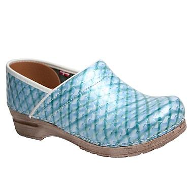 Sanita Footwear Leather Women's Professional Dory Mule Light Blue
