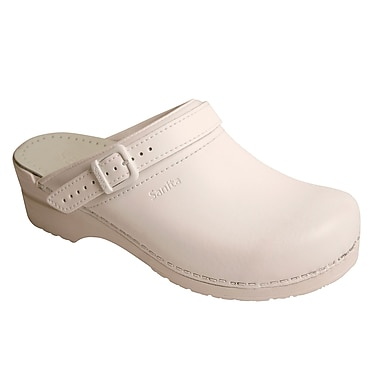 Sanita Footwear Leather Women's Ingrid Clog White, 6.5 - 7