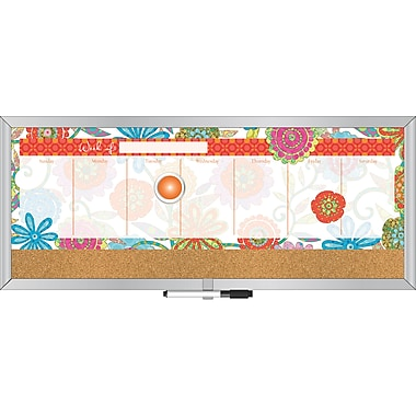 LANG® 7 1/2in. x 18in. Magnetic Weekly Message Center, Picking Daisies