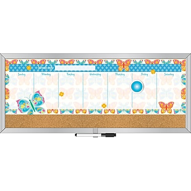 LANG® 7 1/2in. x 18in. Magnetic Weekly Message Center, Butterflies