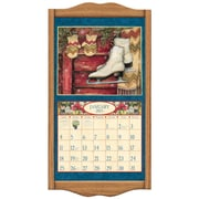 "LANG® 14 3/4"" x 27 1/2"" Wall Calendar Frame, Large, Solid Oak"