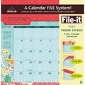 LANG® Avalanche File-it, Fresh Picked 2015 Pocket Wall Calendar