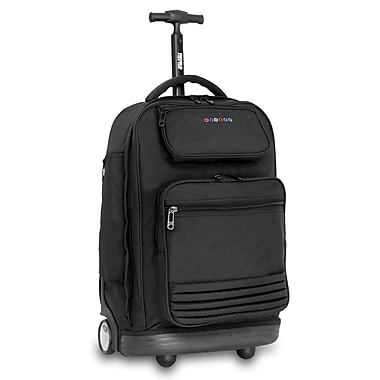 J World Parkway Laptop Rolling Backpack; Black