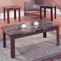 Hazelwood Home Hazelwood Home 3 Piece Coffee Table Set; Walnut