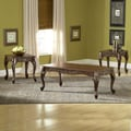 Bernards 3 Piece Carved Coffee Table Set