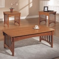 Anthony California Mission Style 3 Piece Coffee Table Set
