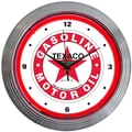 Neonetics Texaco 15'' Gasoline Neon Wall Clock