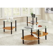 Innovex Crescent Coffee Table Set; Burlwood