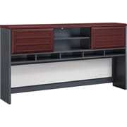 Altra Furniture 9909196 Office Desk, Cherry/Gray
