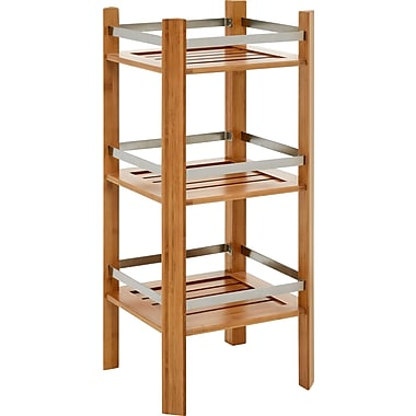 Altra™ Bamboo Bathroom Tower With 3 Open Shelves, Cherry