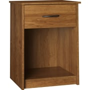 "Ameriwood™ 24.12"" x 17.68"" x 15.62"" Wood Night Stand With 1-Drawer, Bank Alder"