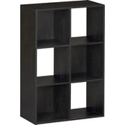 Ameriwood™ Six Cube Storage Cubby Bookcase, Black Ebony