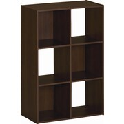 Ameriwood™ Six Cube Storage Cubby Bookcase, Resort Cherry