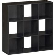 Ameriwood™ Nine Cube Storage Cubby Bookcase, Black Ebony