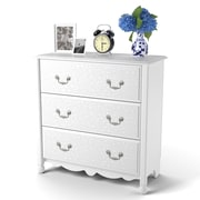 Ameriwood™ 3-Drawer Dresser, White Stipple, 29.12 x 29.56