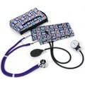 Prestige Medical® Aneroid Sphygmomanometer/Sprague Rappaport Stethoscope Combination Kit, Four Square Heart